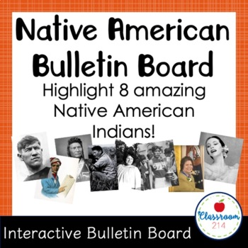 Native American Indian Heritage Interactive Bulletin Board: Who Am I?