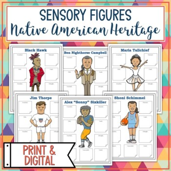 Native American Indian Heritage Leaders Sensory Figures