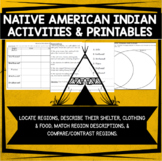 Native American Indian Regions - Activities and Printables