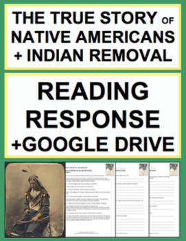 Native American & Indian Removal Reading Response, Answer Key & Google Doc