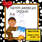 Native American Indians PRE-K Early Literacy Speech Therapy Whole Group