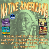 Native American Indians Interactive Notebook Activities with Test Prep & STEM