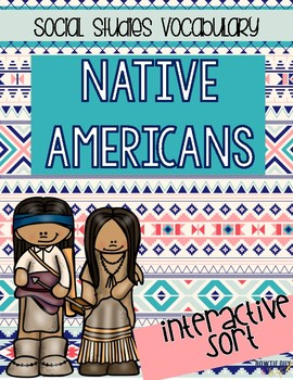 Native American Indians Sorting Activities (by region)