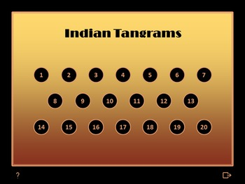 Tangram Quiz - Native American Indians - Interactive PowerPoint