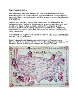 Native American Indians Unit with Montessori Style Inter-Disciplinary Activities