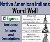 Famous Native American Indians Word Wall Cards