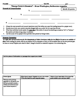 Native American: Info Text Differentiated Worksheets