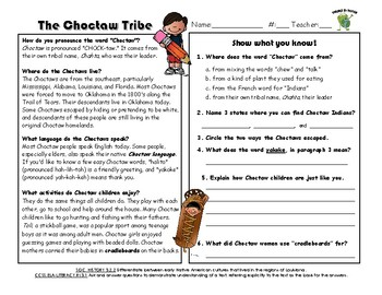 Native American Informational Texts