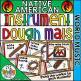 Native American Instrument Dough Mats (World Music)