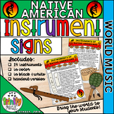 Native American Instrument Signs (World Music)