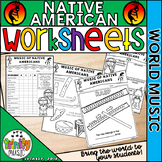 Native American Instrument Worksheets (World Music)