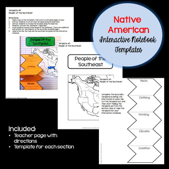 Native American Interactive Notebook Templates