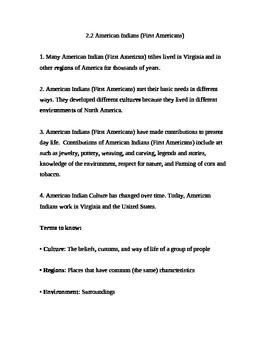 Native American Interactive Notes
