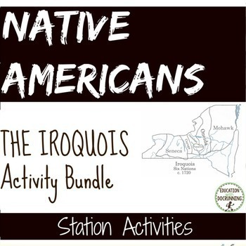 Native American Iroquois Station Activity Bundle SAVE $