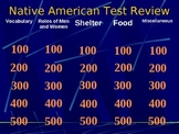 Native American Jeopardy Game