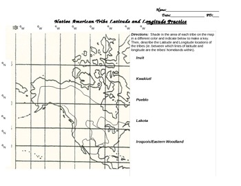 Native American Latitude and Longitude