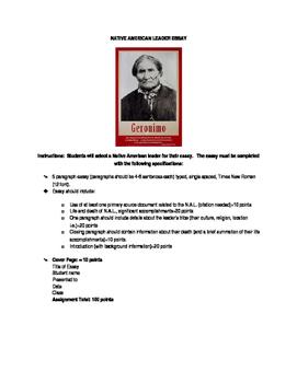 Native American Leader Essay