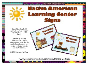 Native American Learning Center Signs