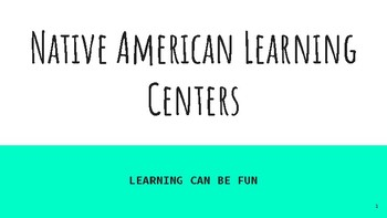 Native American Learning Centers