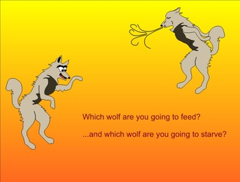 Folklore: Native American Legend: Two Wolves lesson - ELA, character ed, writing