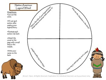 Native American Legend Wheel Activity for Gifted and Enrichment