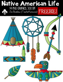Native American Life Clipart ~ Commercial Use OK ~ Thanksgiving