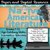 Native American Literature Unit - Digital and Paper Bundle