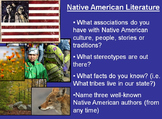 Native American Literature Introduction (themes and types