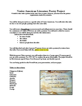 Native American Literature Poetry Project