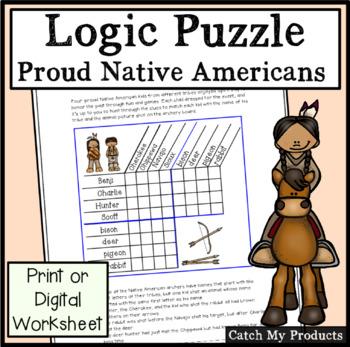 Native American Activity  Logic Puzzle