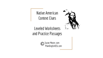 Native American Low Readability Leveled Passages for Context Clues Instruction