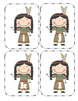 Native American Lowercase Flashcards