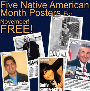 Native American Month Posters! Free!