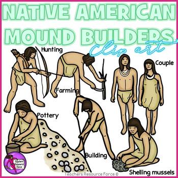 Native American Mound Builders clip art