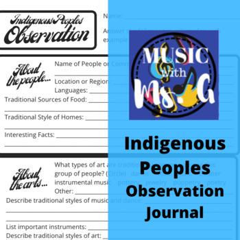 Native American Music Listening Journal