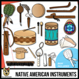 Native American Musical Instruments Clip Art