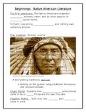 Native American Myth FIB Notes