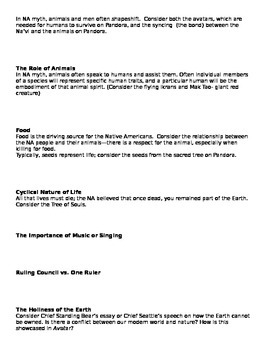 "Native American Mythology and ""Avatar"" Guide"