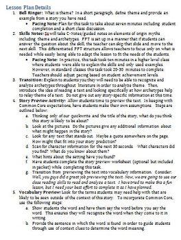 Native American Myths (Prentice Hall's Literature) American Lit. EDITABLE/KEYS