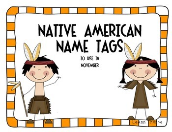 Native American Name Tags