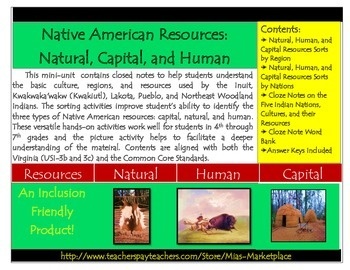 Native Americans: Capital, Human and Natural Resources