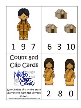 Native American North West Coast Indians themed Count and