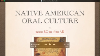 Native American Oral Literature Flipped Classroom Video