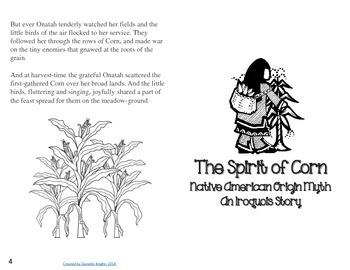 NATIVE AMERICAN ORIGIN MYTH: THE SPIRIT OF CORN CRAFT AND PRINTABLES