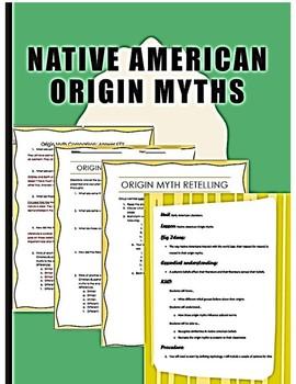 Native Americans Origin Myths Lesson Plan Jigsaw Group Work