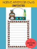 Native American Owls - Craftivity Set - Editable