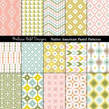 Native American Pastel Geometric Patterns