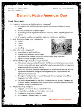 Native American Pilgrims Podcast Package Great for Thanksgiving