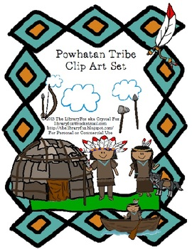 Native American Pocahontas and Powhatan Clip Art Set