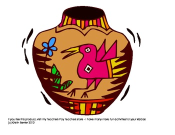 Native American Pottery puzzles - for PreK, Kg or 1st